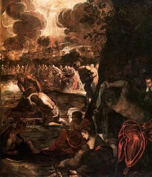 Jacopo Tintoretto (Robusti) - The Baptism of Christ 4