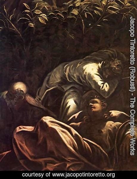 Jacopo Tintoretto (Robusti) - The Prayer in the Garden (detail) 2