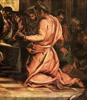 Jacopo Tintoretto (Robusti) - The Last Supper (detail) 3