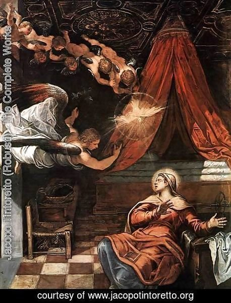 Jacopo Tintoretto (Robusti) - The Annunciation (detail) 2