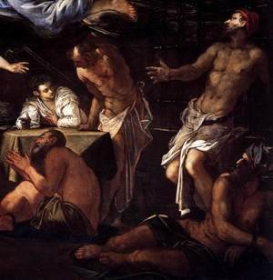 Jacopo Tintoretto (Robusti) - St Roch in Prison Visited by an Angel (detail) 3