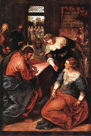 Jacopo Tintoretto (Robusti) - Christ in the House of Martha and Mary