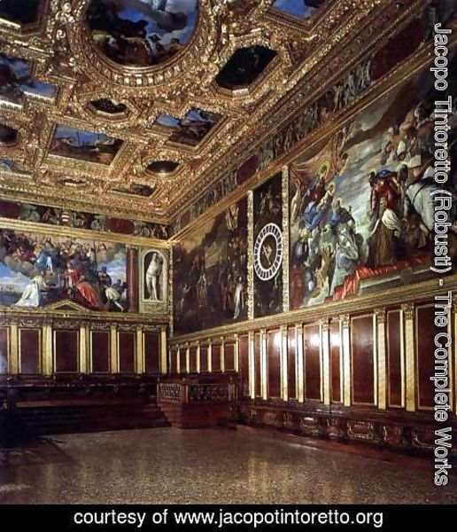 Jacopo Tintoretto (Robusti) - View of the Sala del Collegio