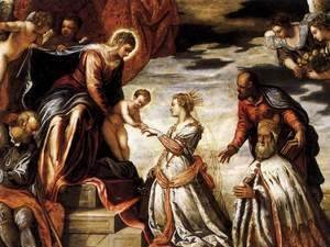 Jacopo Tintoretto (Robusti) - Mystic Marriage of St Catherine (detail)