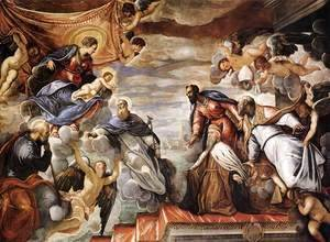 Jacopo Tintoretto (Robusti) - Doge Nicolo da Ponte Invoking the Protection of the Virgin