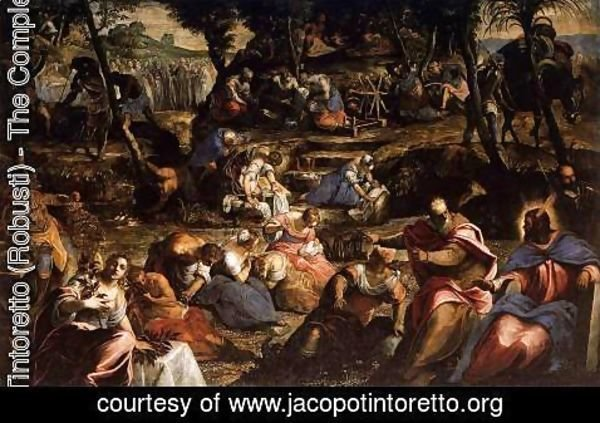 Jacopo Tintoretto (Robusti) - The Jews in the Desert 2