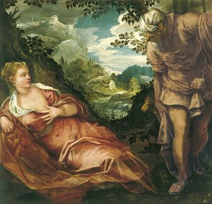 Jacopo Tintoretto (Robusti) - The Meeting of Tamar and Judah