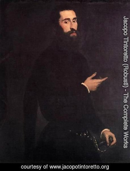 Jacopo Tintoretto (Robusti) - Portrait of a Genoese Nobleman 2