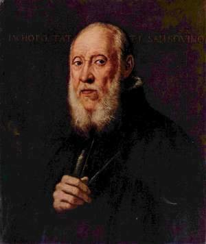 Jacopo Tintoretto (Robusti) - Portrait of Jacopo Sansovino 4