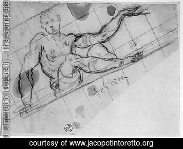 Jacopo Tintoretto (Robusti) - Design for an Allegory of Fortune (Felicita)