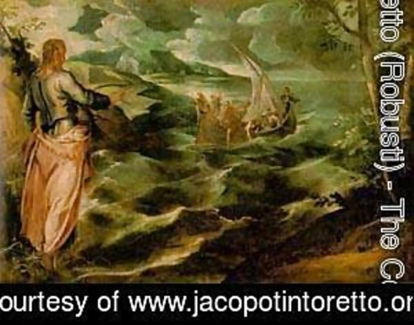 Jacopo Tintoretto (Robusti) - Christ At The Sea Of Galilee 1575-80