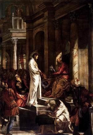 Jacopo Tintoretto (Robusti) - Christ Before Pilate 1566-67