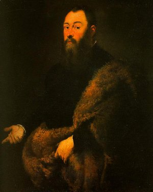 Jacopo Tintoretto (Robusti) - Portrait of a Gentleman in a Fur