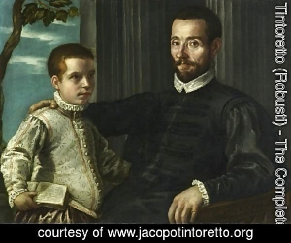 Jacopo Tintoretto (Robusti) - Portrait of a Nobleman with his Son
