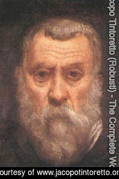 Jacopo Tintoretto (Robusti) - Self Portrait Detail 1588