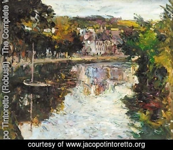 Jacopo Tintoretto (Robusti) - On the river, Quimperle, Brittany
