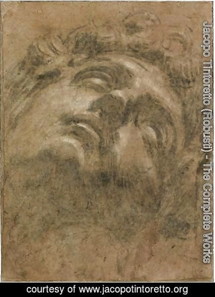 Jacopo Tintoretto (Robusti) - Study Of The Head Of Giuliano De' Medici, After Michelangelo