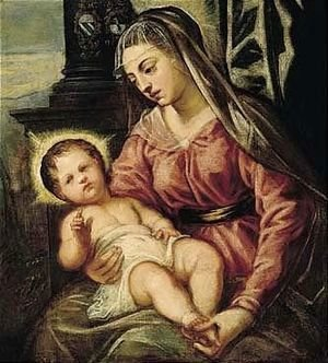 Jacopo Tintoretto (Robusti) - The Madonna And Child
