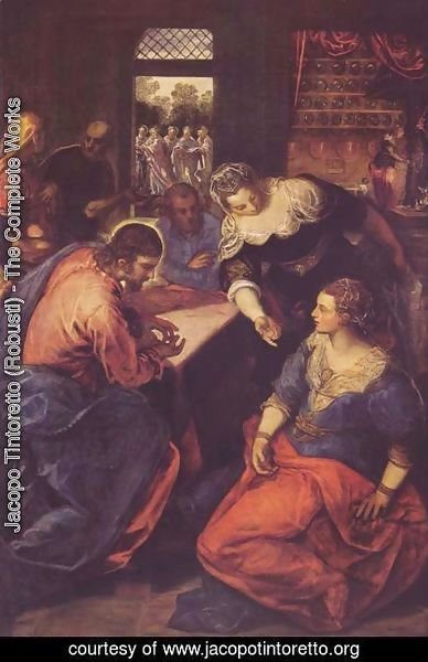 Jacopo Tintoretto (Robusti) - Christ with Mary and Martha