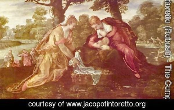 Jacopo Tintoretto (Robusti) - Finding of Moses