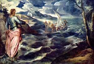 Jacopo Tintoretto (Robusti) - Christ on the Sea of Tiberias