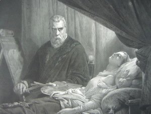 Jacopo Tintoretto (Robusti) - Tintoretto at the deathbed of his daughter