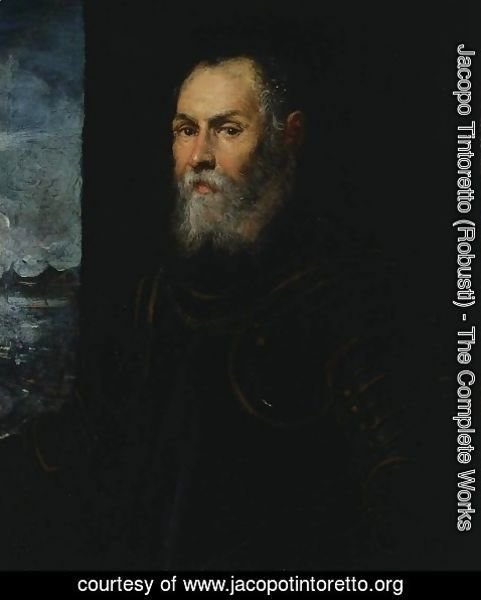 Jacopo Tintoretto (Robusti) - Portrait of a Venetian admiral