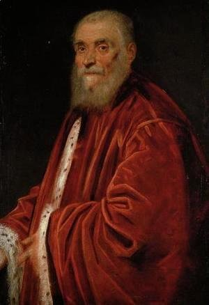 Jacopo Tintoretto (Robusti) - Portrait of Senator Marco Grimani