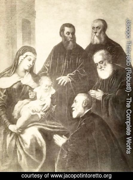 Jacopo Tintoretto (Robusti) - The Virgin and Child with four senators