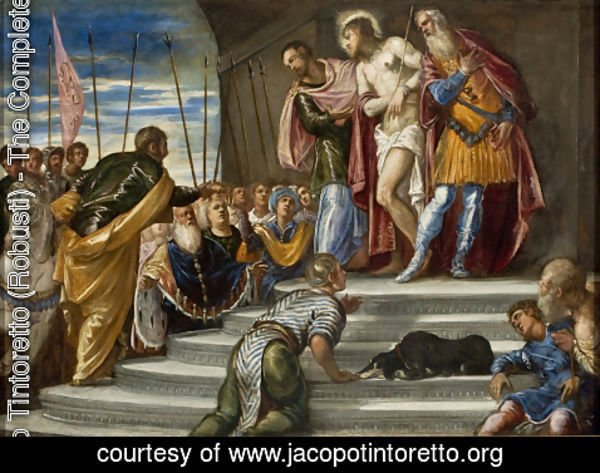 Jacopo Tintoretto (Robusti) - Ecce Homo(Pontius Pilate Presenting Christ to the Crowd)