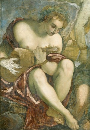 Jacopo Tintoretto (Robusti) - Muse with Lute