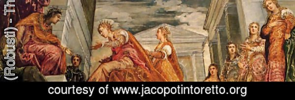 Jacopo Tintoretto (Robusti) - The Queen of Sheba and Solomon
