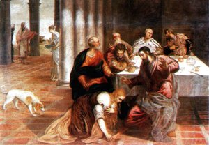 Jacopo Tintoretto (Robusti) - Christ in the house of the Pharisee